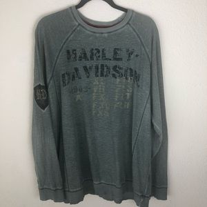 Harley-Davidson green long sleeved tee size xl